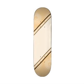 Orange Spirals Pattern Skate Board Deck