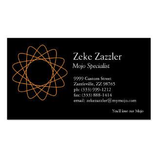 Orange Spirograph Business Card