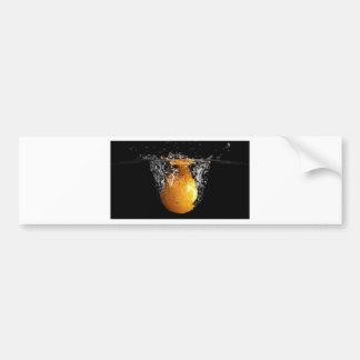 Orange Splash Bumper Sticker