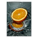 Orange Splash custom greeting cards