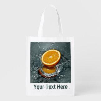 Orange Splash custom reusable bag