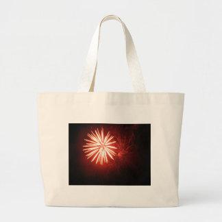 Orange Splash Large Tote Bag