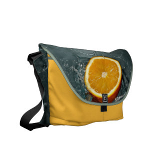 Orange Splash messenger bag