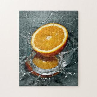 Orange Splash photo puzzle