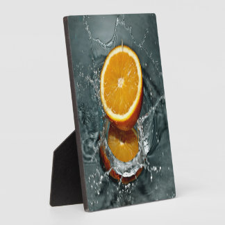 Orange Splash plaque