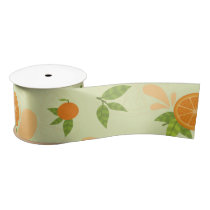 Orange Splash Satin Ribbon