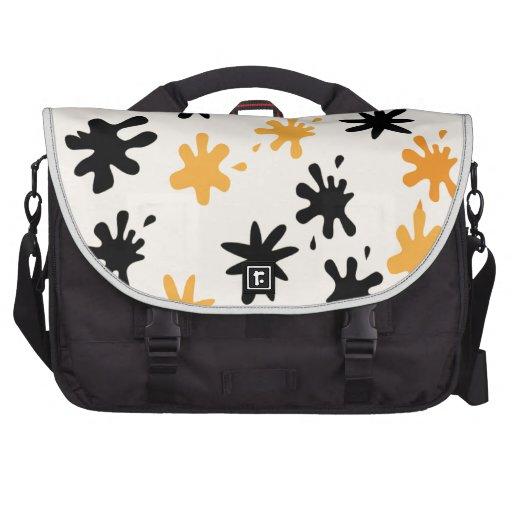 Orange Splat Attack Commuter Bags