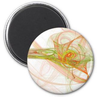 Orange splatter 2 inch round magnet