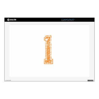 Orange Sports Jerzee Number 01.png Laptop Decal