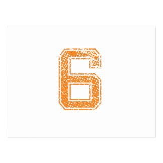 Orange Sports Jerzee Number 06.png Postcard