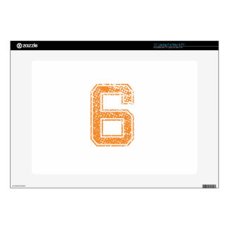 Orange Sports Jerzee Number 06.png Skins For Laptops