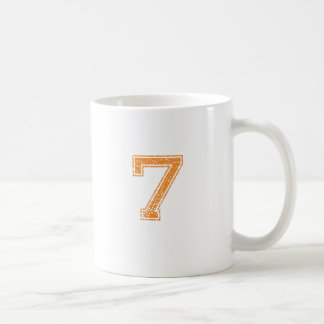 Orange Sports Jerzee Number 07.png Coffee Mug