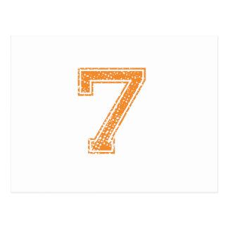 Orange Sports Jerzee Number 07.png Postcard