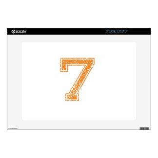 """Orange Sports Jerzee Number 07.png Skins For 15"""" Laptops"""