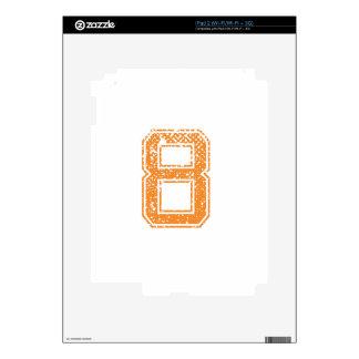 Orange Sports Jerzee Number 08.png iPad 2 Skins