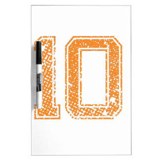 Orange Sports Jerzee Number 10.png Dry Erase Whiteboards