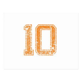 Orange Sports Jerzee Number 10.png Postcard