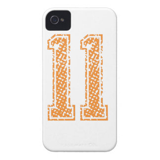 Orange Sports Jerzee Number 11.png iPhone 4 Case-Mate Case