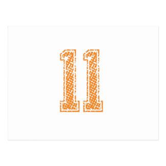 Orange Sports Jerzee Number 11.png Postcard