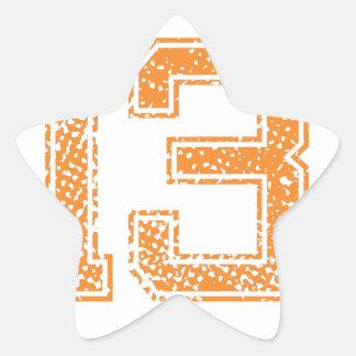 Orange Sports Jerzee Number 13.png Star Sticker