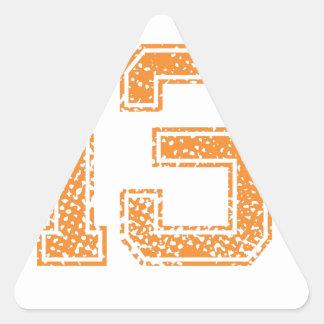 Orange Sports Jerzee Number 13.png Triangle Sticker
