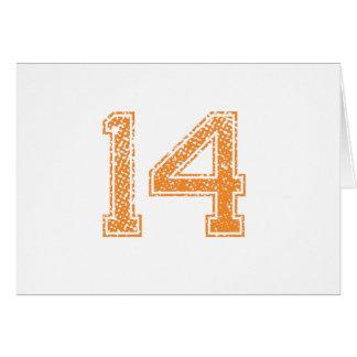 Orange Sports Jerzee Number 14.png Card