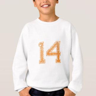 Orange Sports Jerzee Number 14.png Sweatshirt