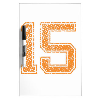 Orange Sports Jerzee Number 15.png Dry-Erase Board