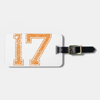 Orange Sports Jerzee Number 17.png Luggage Tag
