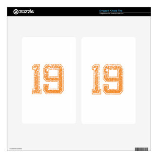 Orange Sports Jerzee Number 19.png Decals For Kindle Fire