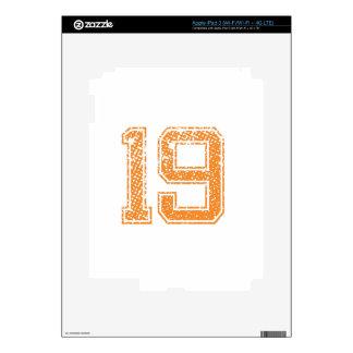 Orange Sports Jerzee Number 19.png iPad 3 Skin