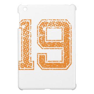 Orange Sports Jerzee Number 19.png iPad Mini Cases