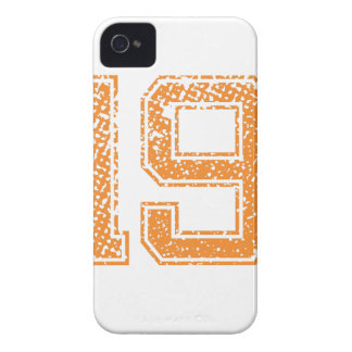Orange Sports Jerzee Number 19.png iPhone 4 Case
