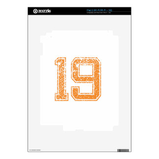 Orange Sports Jerzee Number 19.png Skin For The iPad 2