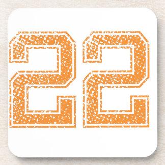 Orange Sports Jerzee Number 22.png Drink Coasters