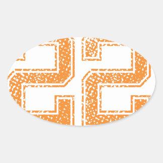 Orange Sports Jerzee Number 22.png Oval Sticker