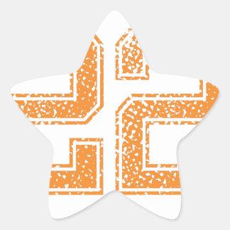 Orange Sports Jerzee Number 22.png Star Sticker