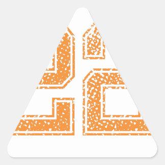 Orange Sports Jerzee Number 22.png Triangle Sticker