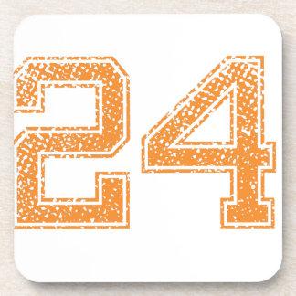 Orange Sports Jerzee Number 24.png Beverage Coasters