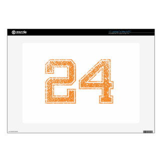 Orange Sports Jerzee Number 24.png Skin For Laptop