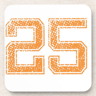 Orange Sports Jerzee Number 25.png Coasters