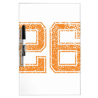 Orange Sports Jerzee Number 26.png Dry-Erase Board