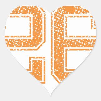 Orange Sports Jerzee Number 26.png Heart Sticker