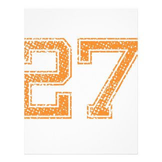 Orange Sports Jerzee Number 27.png Letterhead
