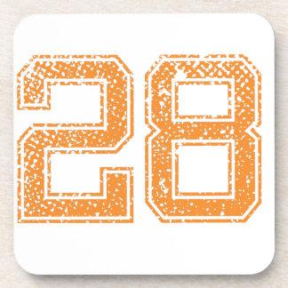 Orange Sports Jerzee Number 28.png Coaster