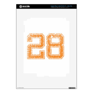 Orange Sports Jerzee Number 28.png Decal For iPad 3