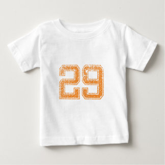 Orange Sports Jerzee Number 29.png Baby T-Shirt
