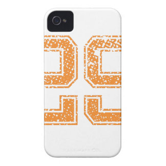 Orange Sports Jerzee Number 29.png iPhone 4 Cover