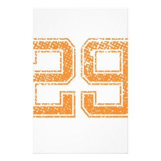 Orange Sports Jerzee Number 29.png Stationery