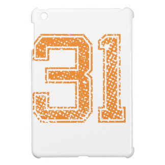 Orange Sports Jerzee Number 31.png Cover For The iPad Mini